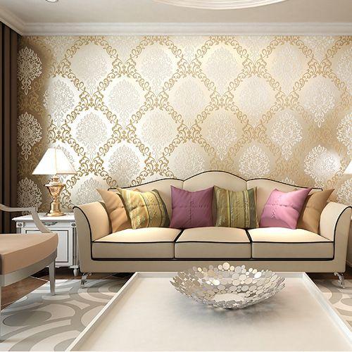 Luxury living room wallpaper living room for Best 3d wallpaper for living room