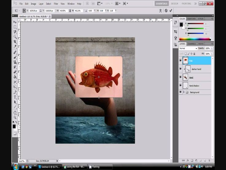 Photoshop Tutorial CS5-For Beginners-Grunge Style Flooded Room