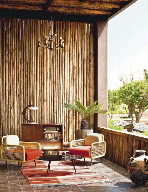 mid century cool with a tiki hut vibe