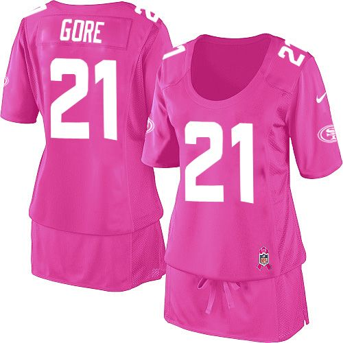 Womens Nike New Orleans Saints Drew Brees Elite Pink Breast Cancer  Awareness Jersey Nike Frank Gore Jersey Elite Team Color Red San Francisco  49ers 21. 4e9a57cae