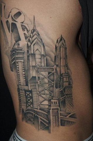 philadelphia skyline tattoo tattoo art pinterest skyline tattoo philadelphia skyline and. Black Bedroom Furniture Sets. Home Design Ideas
