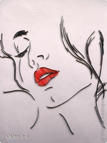 Картина, панно, рисунок Квиллинг: Моя первая работа в контурном квиллинге Бумажные полосы Дебют. Фото 1