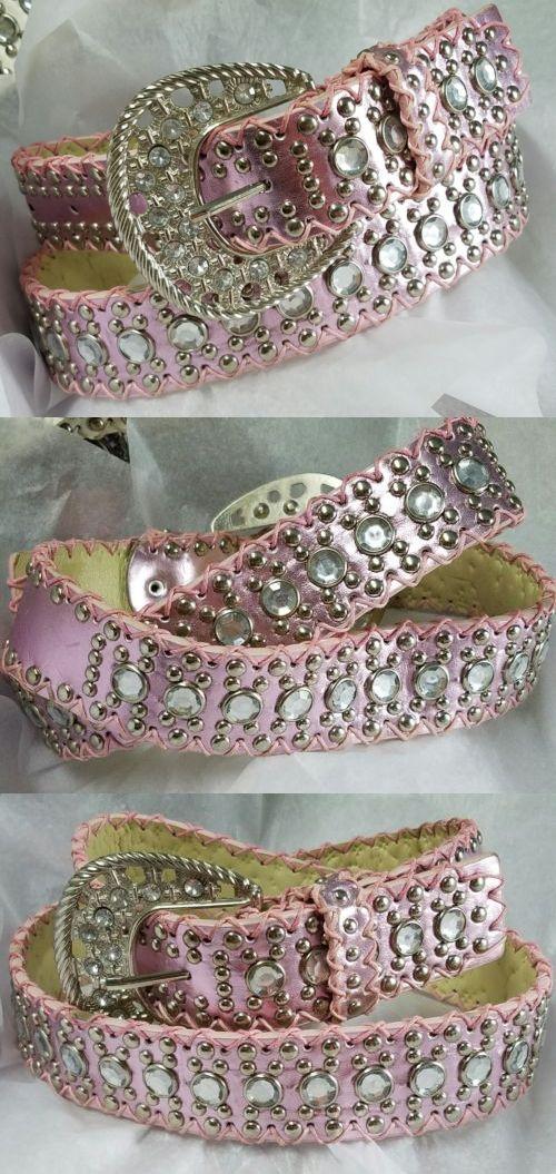 53ef5fca9ec Belts 3003  U.S. Seller Pink Women S Western Rhinestone Cowboy Belt And  Buckle- Size