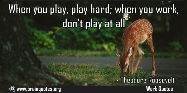 When you play play hard when you work dont play at all Quote Meaning No explanation or meaning available. Be the first to write the meaning of this quote by commenting below. Write explanation in three sentences to get it featured here. Main Topic: Work Quotes  Related Topics: When you play,...  http://www.braintrainingtools.org/skills/when-you-play-play-hard-when-you-work-dont-play-at-all/