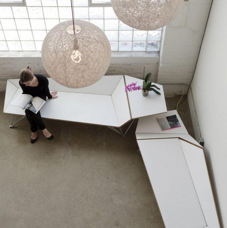 Banc Origami par Black Lab Architects - Blog Déco Design