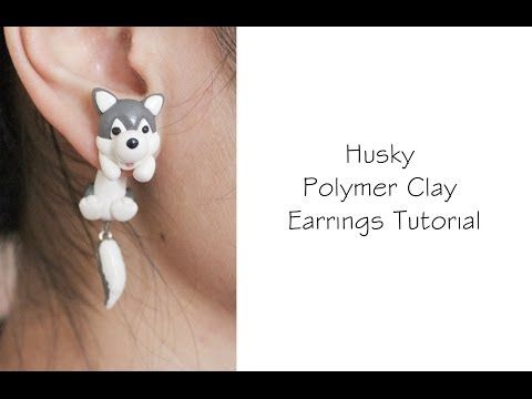 M HUSKY Polymer Clay Earrings (Kiki's Delivery Service) Tutorial - YouTube