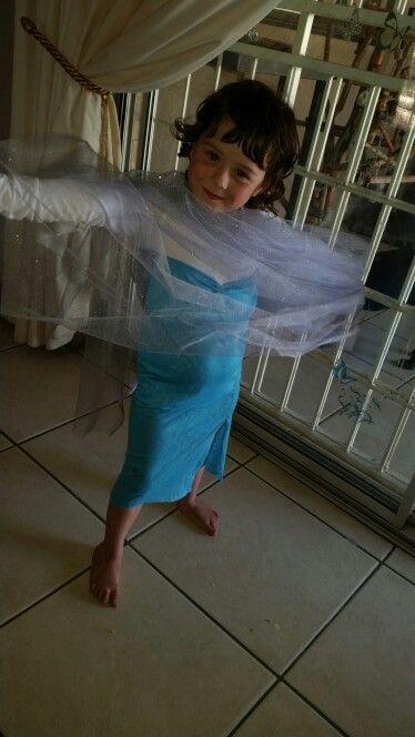 Elsa dress half done
