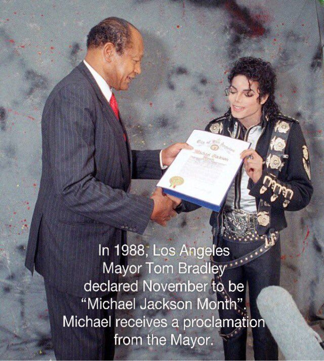 Michael Jackson and then Mayor of Los Angeles, Tom Bradley