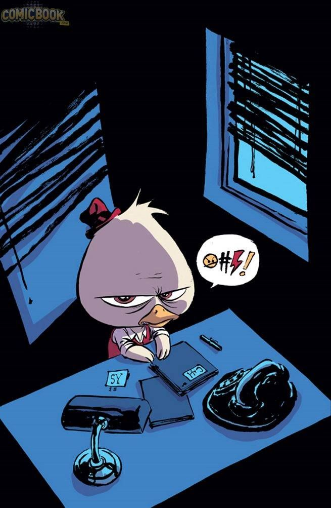 Howard the Duck #1 variant cover by Skottie Young *