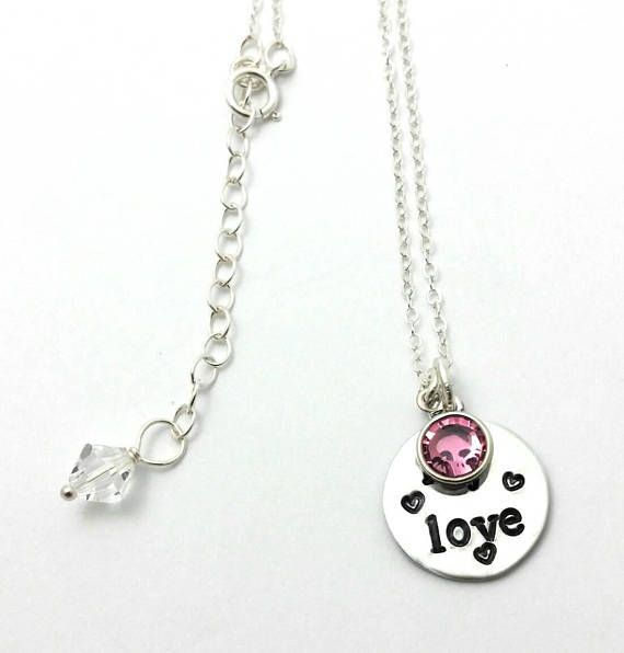 My love necklace,Gift for girlfriend,Anniversary gift,October birthday gift for her,Gift for wife,Sterling silver wife necklace,Girlfriend. Details: -.925 Sterling silver necklace chain. -Adjustable lenght from 16 inches to 18 inches long. -Hand stamped my love in a non tarnish