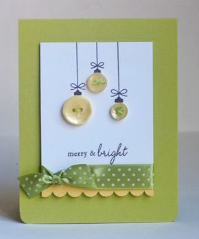 Merry and bright. DIY xmas card idea