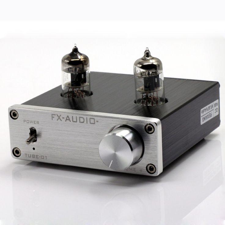 2016 New Feixiang FX-AUDIO TUBE-01 DC12V 1A Bile Preamp Tube Amplifier Buffer 6J1 HIFI Audio Preamplifier preamplificador Silver