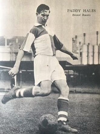Paddy Hales of Bristol Rovers in 1954.