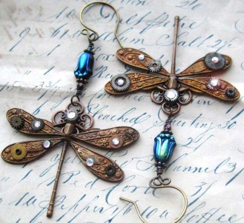 Unique Dragonfly Earrings.....Beautiful