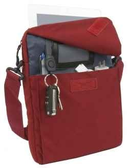#STM Bag - iPad Mini Shoulder Bag Lightweight and waterproof with removable shoulder straps In Red and Black