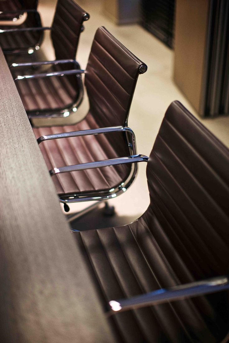 delicious chocolate brown leather chairs - The Netherlands / Private Banking Office, photo's by Paul Barbera