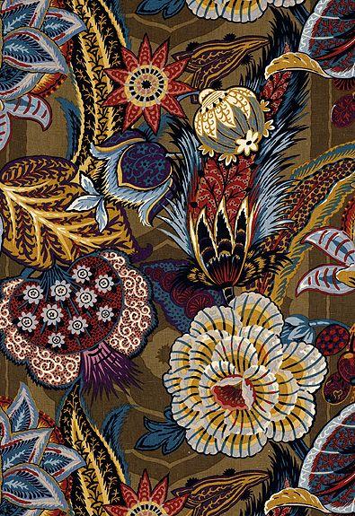 Zanzibar Linen Print in Cerulean - Schumacher Fabric