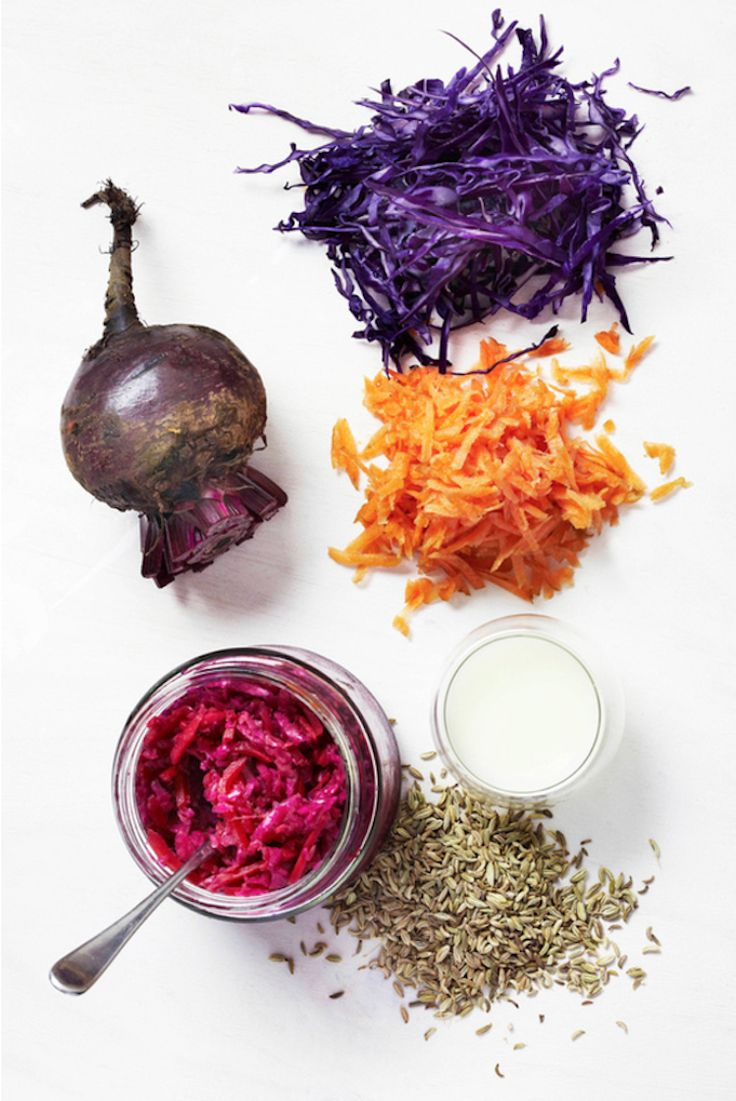 The benefits of fermented foods along with a few recipe ideas you can make at home.   Photo via The Beauty Chef