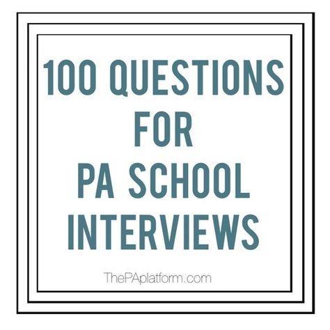 33 best PA images on Pinterest Medical school, Becoming a - assistant principal interview questions