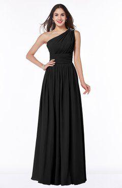 Black Modern A-line Asymmetric Neckline Sleeveless Half Backless ... bb4851dc6