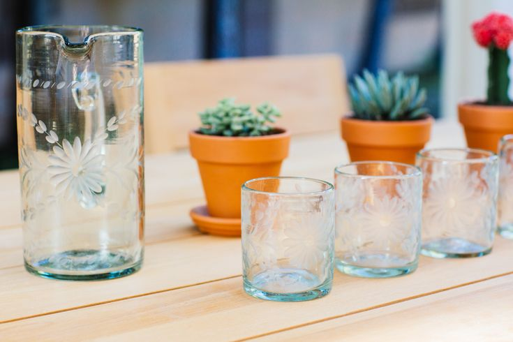 Checkout Eat Sleep Wear's homemade margarita recipe, and shop our hand-etched glassware.
