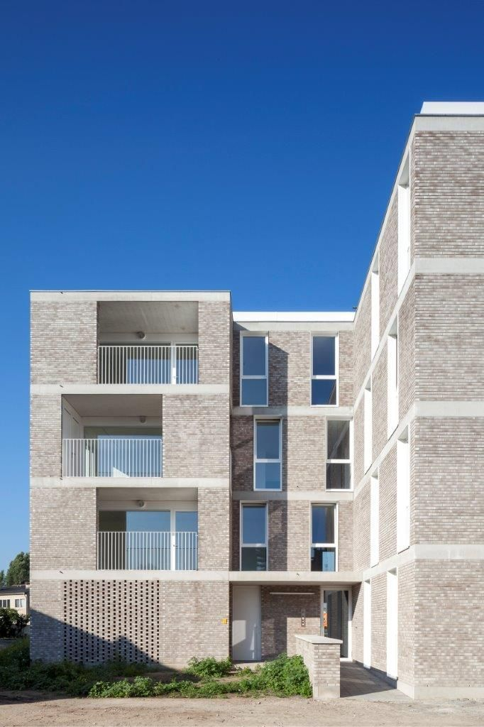 Pin On A Residential Architecture Facades Brick Architecture Social Housing Architecture