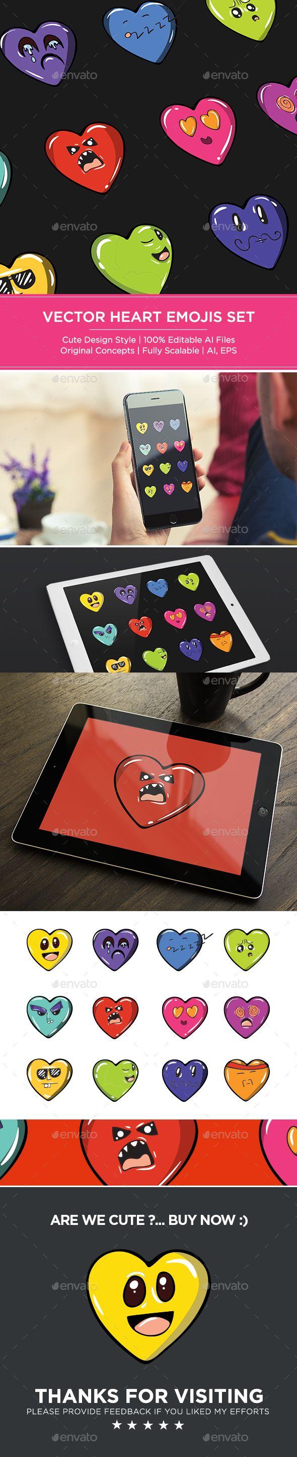 Heart Emoji Set