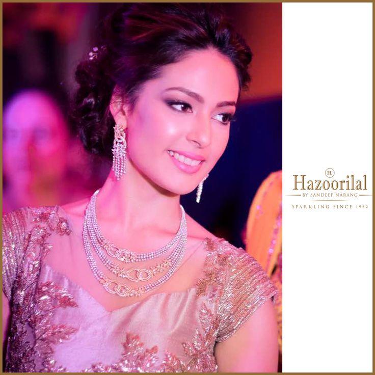 Looking stunning in a diamond necklace from #HazoorilalBySandeepNarang @arushichanana  #HazoorilalBrides #Diamonds #BridalJewellery #JewelleryTrendsetters #ItcMaurya #DlfEmporio #GK-1 #HazoorilalJewellers #Hazoorilal