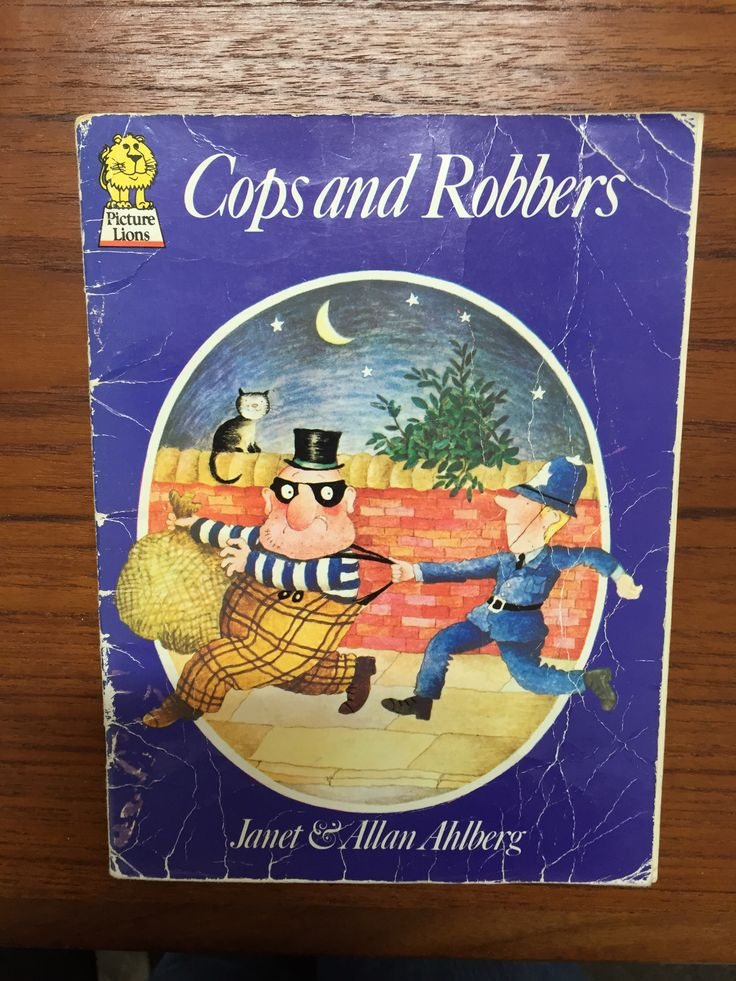 Our well-loved copy of Cops and Robbers from 1978 by the fantastic Janet & Allan Allberg. Ho Ho for the robbers The cops and the robbers Ho Ho!