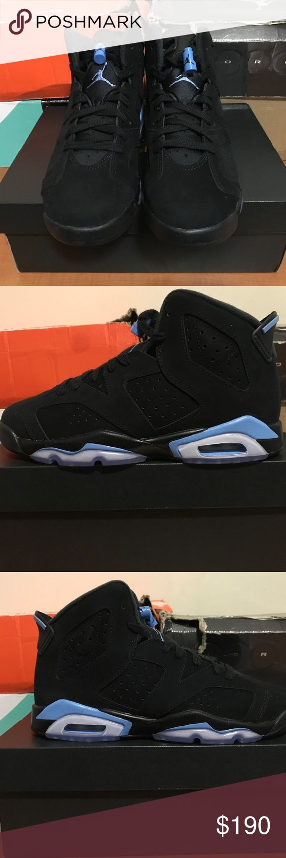 Air Jordan 6 UNC Kids Size 7 *Message Me For First Buyer's Discount  Shoes are brand new and comes with original box, laces and Jordan Brand sticker.  MOSSIMO SUPPLY CO., VANS, ADIDAS, NIKE, VINTAGE VINEYARDS, STARTER, CONVERSE, AIR JORDAN, J. CREW, TOMMY HILFIGER, THE NORTH FACE, DITCH PLAINS, CHAMPION, LACOSTE, BLAC LABEL, RALPH LAUREN, REEBOK, OLD NAVY, AMERICAN APPAREL, NAUTICA, ABERCROMBIE & FITCH, OBEY, FOREVER 21, SKULLCANDY, SUPREME, PACSUN, POLO, LEVI'S Jordan Shoes Sneakers