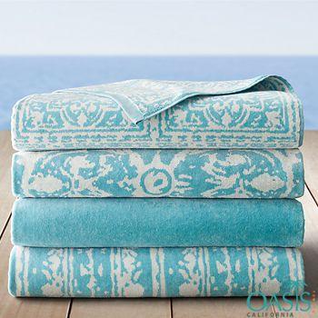 Graceful Sky Blue Corsican Beach Towels Wholesale