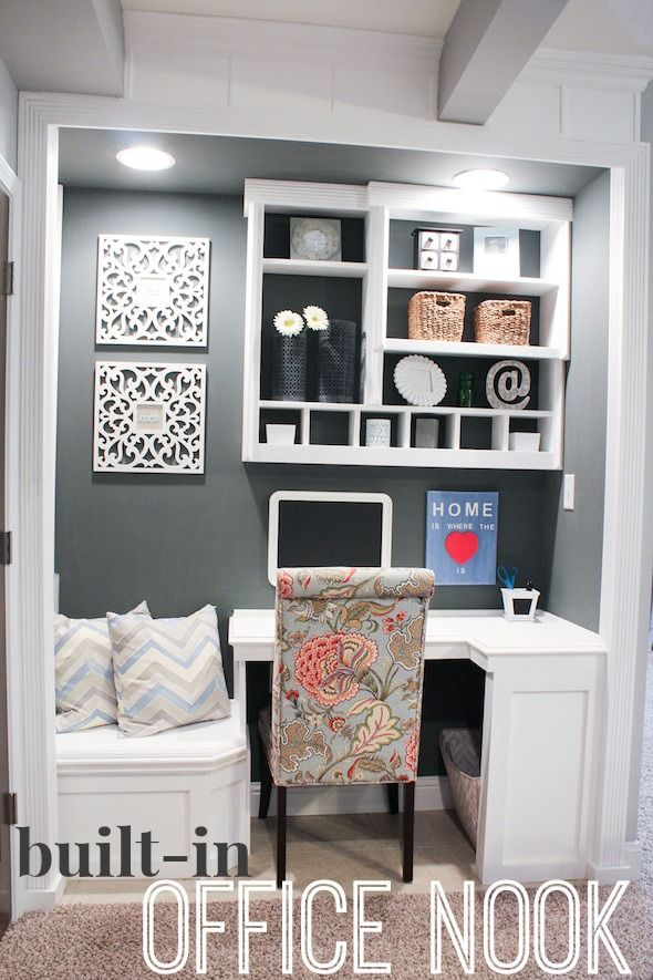 Turn Your Empty Closet Into Something Magical With These Ideas Elly Room Pinterest Office Small Home Offices And Nook