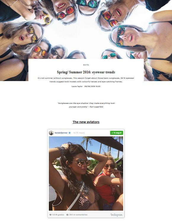 Spring/ Summer 2016: eyewear trends   UNIKSTORE Blog