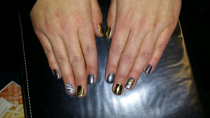 Gunmetal lacquer, Zebra, Mirror Metallic Gold, Butterfly Fantasy