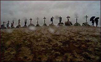 13 crosses in Clement Park