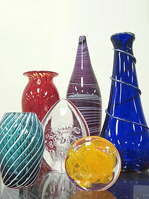 Hand-blown glass renderings - Ohio Glass Museum. Lancaster, OH