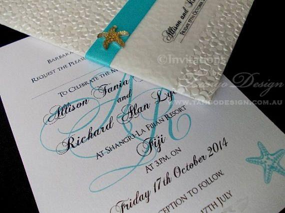 98 best aqua blue jade turquoiseteal wedding invitations and pebble beach wedding invitations starfish caribbean islands stopboris Images