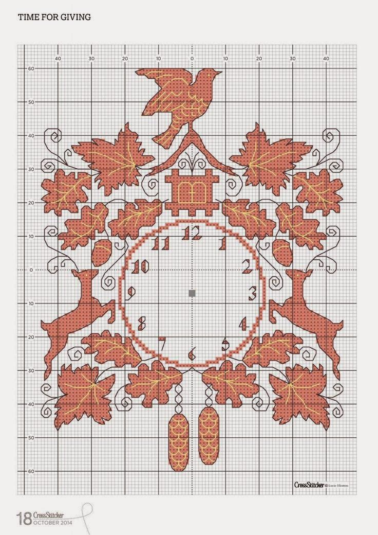 128 best images about cross stitch clock pattern on for Orologio punto croce schemi gratis