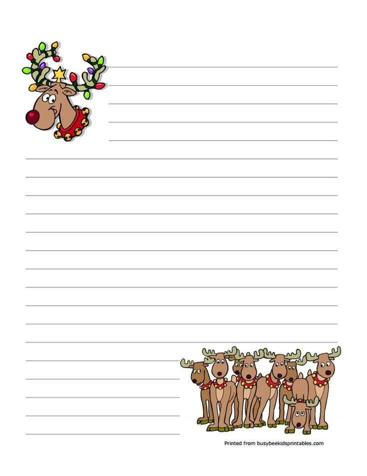 Printable Christmas Stationery to Use for the Holidays: Busy Bee's Free Christmas Stationery