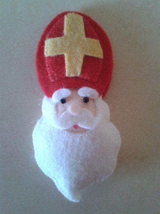 Sinterklaas van vilt