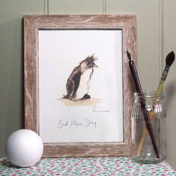 bad hair day penguin print by zaza shelley | notonthehighstreet.com