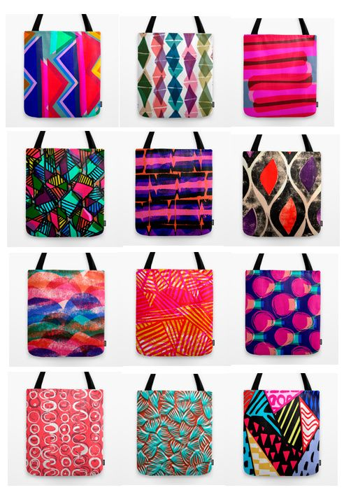 Tote bags now available on Society6 - Sarah Bagshaw