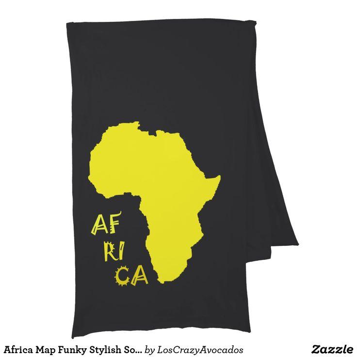 Africa Map Funky Stylish Soft Jersey Scarf