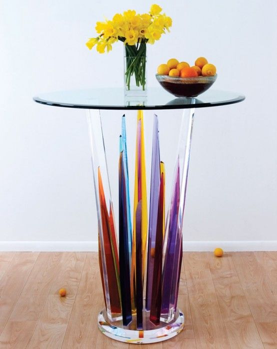 Beautiful Glass Bar Tables by H.studio