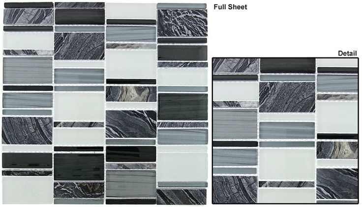 17 best images about glazzio corrugated scapes glass tile