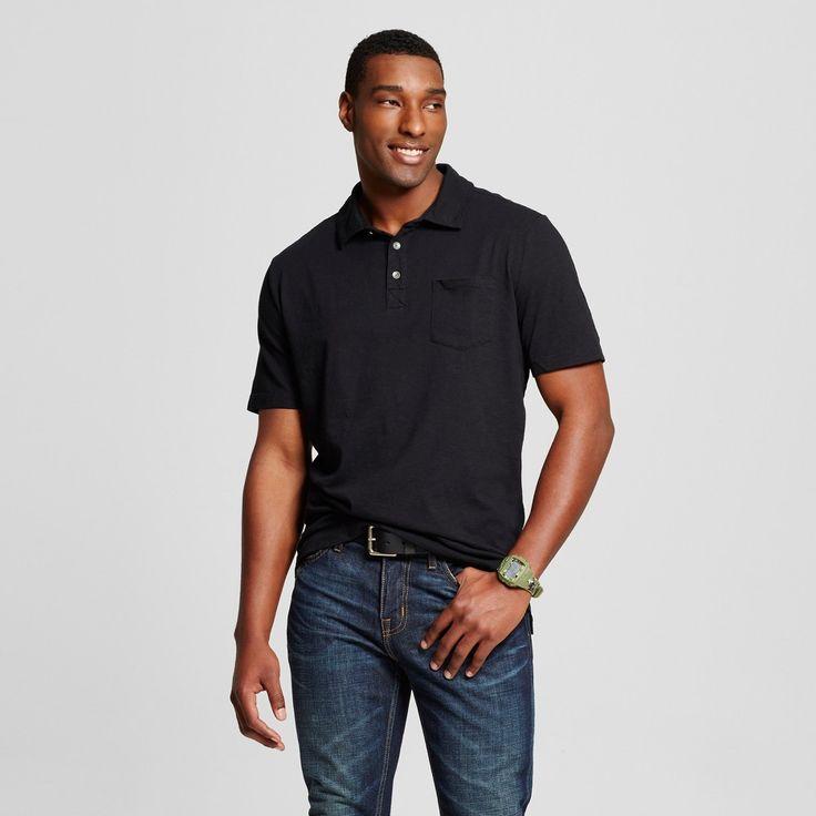 Men's Big & Tall Polo Shirt Black 2XBT - Mossimo Supply Co., Size: 2XB Tall