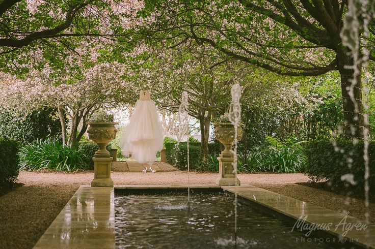 #jaspersberryweddings #jaspers #jaspersberry  #garden #nature #rill #waterfountain #fountains #weddingdress #weddings #weddingvenue