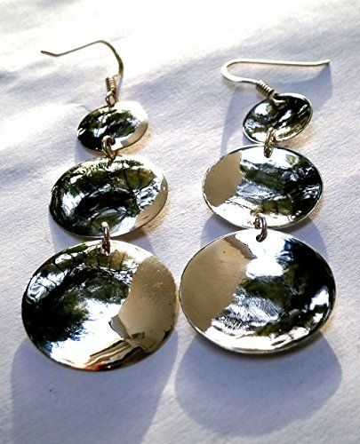 Long Circle Earrings, Silver Hammered Triple Earrings, Da... http://www.amazon.com/dp/B01GBRNJNA/ref=cm_sw_r_pi_dp_Pedtxb1H1QMCP