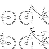 how to draw a bicycle in perspective