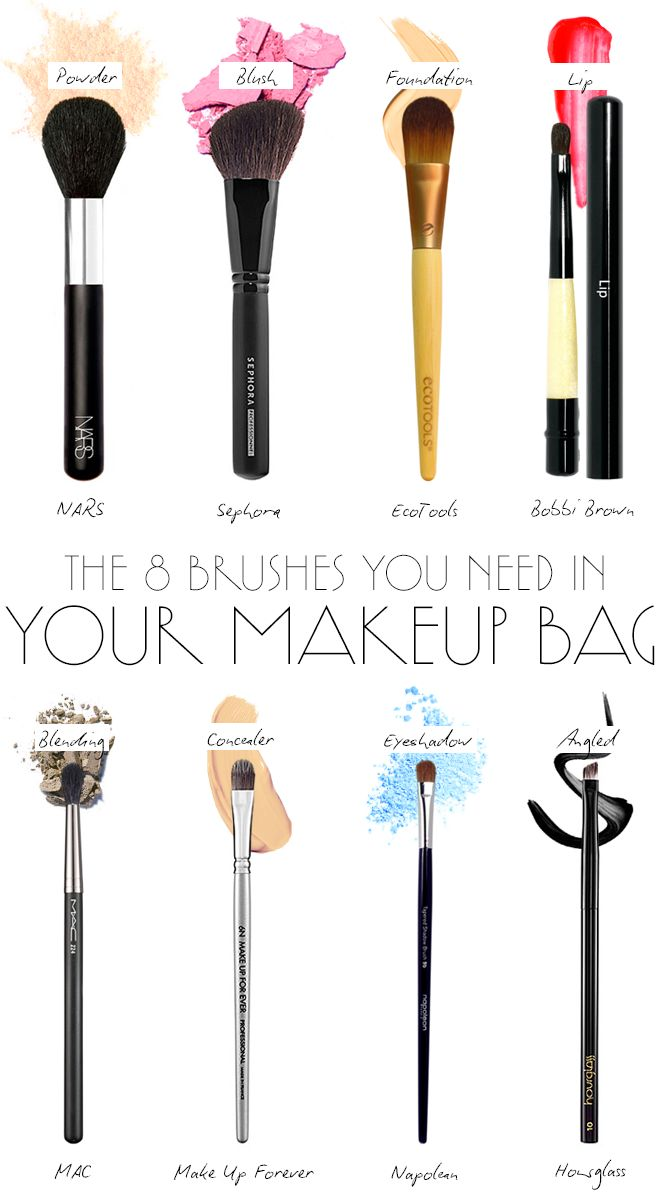 8 makeup brushes you NEED!